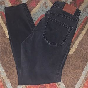 Madewell high riser skinny black faded look 28